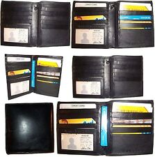 Lot of 6 Men's wallet Genuine Leather Hipster Bifold Black, Men's billfold, NWT