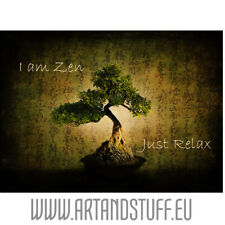 I Am Zen, Just Relax en Plexiglas 60x40 cm, Tableau, Décoration Murale Art&Stuff