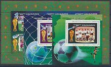 Libyen 1659/64 Kleinbogen Block 106/07 postfrisch / Fußball ....................
