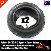 Pair 90/65-6.5 Tyre +Tube Mini Petrol Scooter Pocket Rocket Bike Tire 47cc 49cc