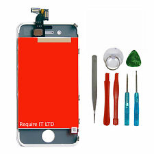 For iPhone 4S LCD Display Digitizer Touch Screen Assembly White UK Replacement