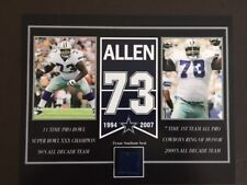 LARRY ALLEN DALLAS COWBOYS OLD TEXAS STADIUM SEAT 8 X 10 COA