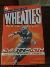 DALLAS COWBOYS NFL EMMITT SMITH WHEATIES CEREAL BOX All-Time Rushing Leader