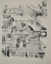 Robert DELAUNAY - lithographie originale - Paris, la Seine aux quatre ponts