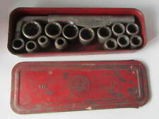 Vintage DURO Metal Products Co Pat. Pending 14 Sockets Set No. 316