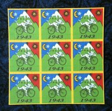 "Blotter Art ""Bicycle Day"" Perforated Collection Paper Hoffman Bike Ride 1943"