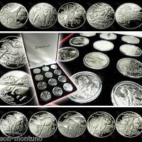 "2005-2007 Sierra Leone ""AFRICAN ANIMALS"" Complete 12 COIN CuproNickel Set in BOX"