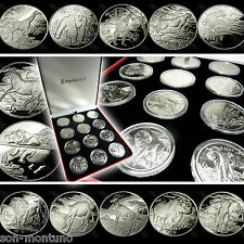 "2005-2007 Sierra Leone ""AFRICAN ANIMALS"" Complete 12 COIN CuproNickel Set in BOX"