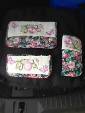 3 Piece Set - Eyeglass holder, Cosmetic Bag and money holder