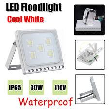 4Pcs Ultraslim Cool White Outdoor Security Light Porch,Garden, Garage Floodlight
