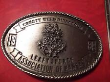 1989 County Weed Directors Association of Kansas Belt Buckle Leafy Spurge 182