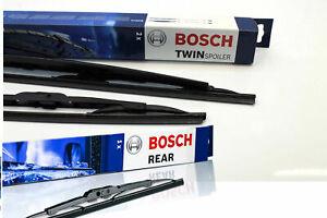 Bosch Wischer-Set vorne+hinten Twin Spoiler 584S + H341 SEAT Ibiza VW Golf 4