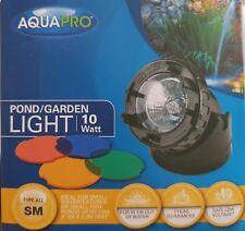 AQUAPRO 10Watt Small Pond/Garden Light with Coloured Lenses