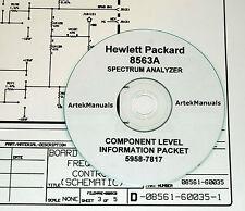 Hewlett Packard Service CLIP (Schematics) Manual for the 8563A Spectrum Analyzer