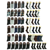 3-12 pairs Men Multi Color Patterned Cotton Fashion Casual Dress Socks 10-13