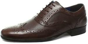 Mens Red Tape Carn Burgundy Bordo Smart Leather Brogues Lace Up Shoes Size UK 12