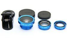 180° Clip On Fish Eye Lens Wide Angle Macro Camera Lens Kit For Phone Tablets UK