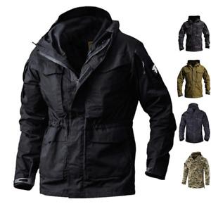 Tactical Military M65 Mens Jacket Combat Field Coats Hooded Waterproof Overcoat