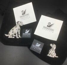 New Swarovski Crystal Dalmatian Brooch, Mother and Puppy Dalmation Dog Set