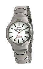Gino Franco Men's Analog Quartz Marina Round Stainless Steel Bracelet Watch
