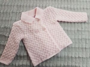 My Little Chick Chunky Knitted Baby Jacket - Pink - BNWT