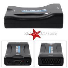 CONVERTITORE ADATTATORE DA HDMI A SCART 1080P PER HDTV WII XBOX PS3 SKY TV BOX