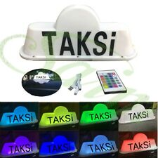 5V TAXI Top Sign Roof Driver Cab Sign Car Top Lights Remote Control W Battery