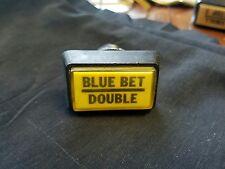 """Video slot machine button, """"Blue Bet/Double"""""""