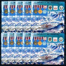 10x PARAGUAY 1976 Olympiade Olympics Innsbruck Block 276 ** MNH KW €220