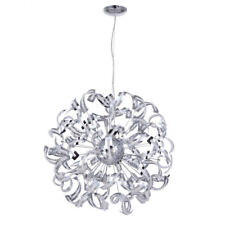 12 Light Ceiling Pendant Crystal Effect Light Fitting Polished Chrome Litecraft