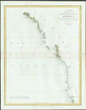 1798 Antique Map NORTH WEST COAST AMERICA Mt. St. Elias Graham Isle Perouse (M4)