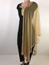 $4.99 Black Friday Deals Indian Scarf Gold Dupatta Match any Fancy  Kurta Dress