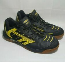 Hi-Tec COURT M100 Sirio Indoor Black Yellow Shoes Sneakers Sz 13