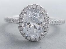 1.45 CARAT CT TW OVAL CUT LAB GROWN DIAMOND ENGAGEMENT RING - D VS1 $4,990