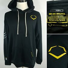 EVOSHEILD Baseball Men's XL Black & Yellow Polyester Hoodie Jacket Pullover NWOT