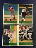 1997 Topps #22 #85 #223 #255 BIGGIO, MILLER, WALL, BILLY WAGNER ROOKIE CUP Sharp