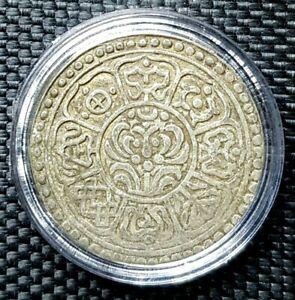 RARE 1840-1930 TIBET-CHINA 1 TANGKA Silver Coin,Y#13.5, Ø27mm(+FREE1 coin)#16758