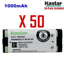 Kastar  HHR-P105 ( 50 Pack) Cordless Phone Battery For Panasonic Type31