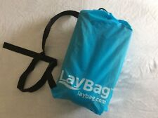 NWT Unopened LayBag Inflatable Air Lounge Blue Summertime Funtime Is Coming