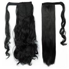 Wrap Ponytail Hair Extensions Natural Fake Pony Tail Brown Black Blonde Hair PR3