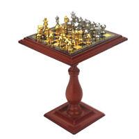 1/12 Puppenstube Miniatur Schachspiel Schach Set für Puppenhaus Wohnzimmer Deko