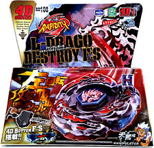 L-Drago Destructor Destroy Metal Fusion Fury Masters Beyblade Set w Launcher NIP