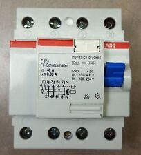 ABB F 374, FI Schutzschalter 40A Breaker 230/400V