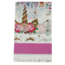 Unicorn tablecloth disposable party table cover for kids birthday partydecorVKCA