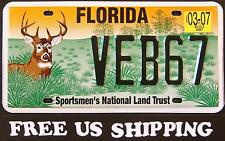 "FREE US SHIP - FLORIDA '  WILDLIFE DEER "" MINT FL Specialty License Plate"
