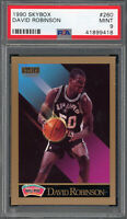 David Robinson San Antonio Spurs 1990 Skybox Basketball Card #260 PSA 9 MINT