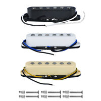 FLEOR Alnico 5 Single Coil Pickup Neck/Middle/Bridge Pickup fit FD Strat Guitar