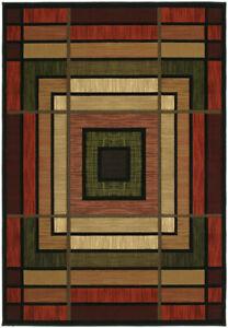 "United Weavers 510-25029 Terracotta Panels Blocks 2x3 Area Rug - Approx 1'10""x3'"