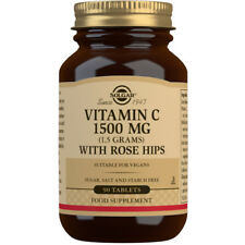 Solgar Vitamin C 1500mg with Rosehips - Choice of 90 or 180 Tablets