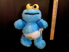 Sesame Street Cookie Monster Baby Muppet With Rattle Eyes Plush Stuffed Toy Doll